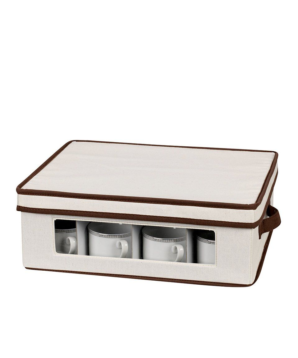 Take A Look At This Cup Chest Today Mug Storage Dinnerware Storage Tea Cup Storage