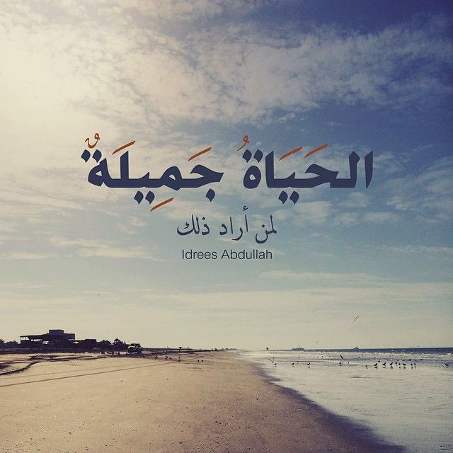إ د ر يس ع ب دالله On Instagram الحياة جميلة لمن أراد ذلك Arabic Quotes Arabic Words Instagram Posts