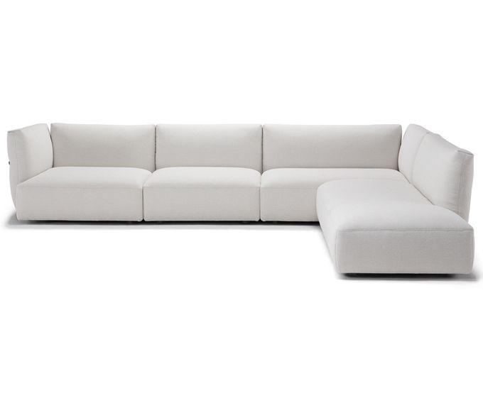 Divano Trapuntato ~ Ecoma bax divano sofa tactile leather black nero pelle baxter