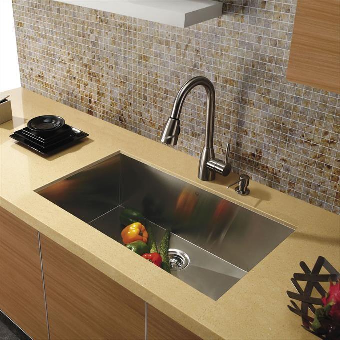 "30"" Undermount Stainless Steel 16 Gauge Single Bowl Kitchen Sink - Homeclick Community"