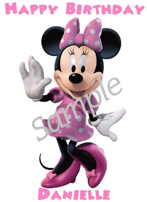 Minnie Mouse Edible Cake Image Cake Topper Cake Decoration Party