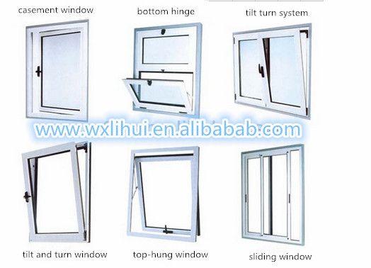 Tilt Open Security Window System Aluminum Tilt And Turn Window System Set Window Hardware System Hinge Handl Window Vinyl Double Hung Windows Windows And Doors