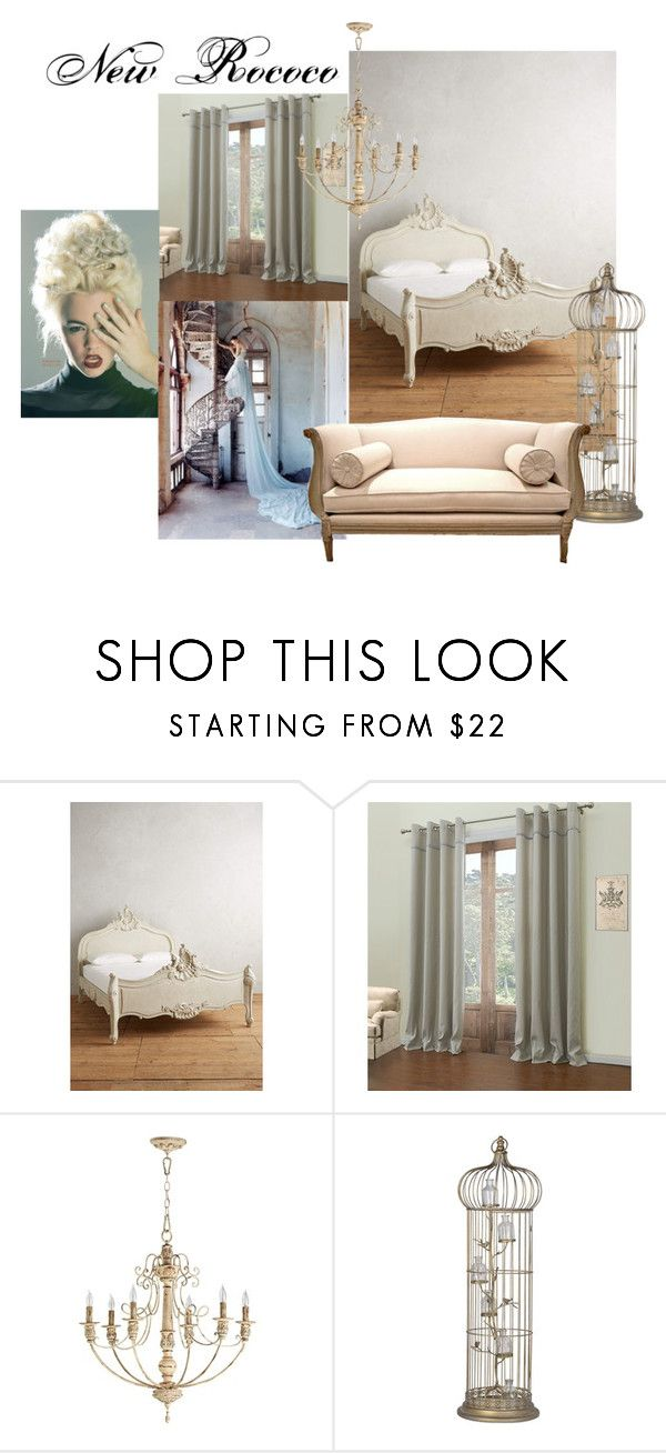 """New Rococo"" by olesenok ❤ liked on Polyvore featuring interior, interiors, interior design, home, home decor, interior decorating, Anthropologie and Quorum"