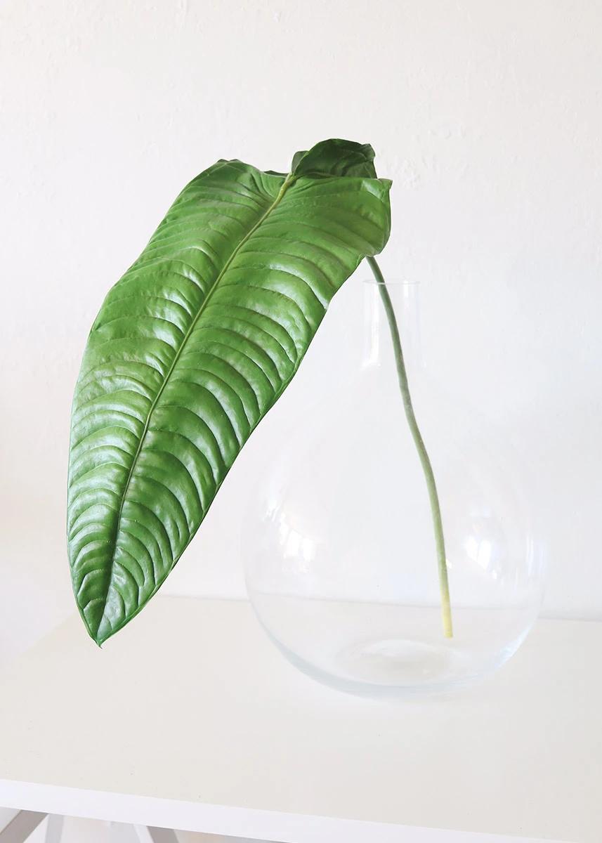 Large Faux Tropical Elephant Ear Leaf Spray - 49 Tall