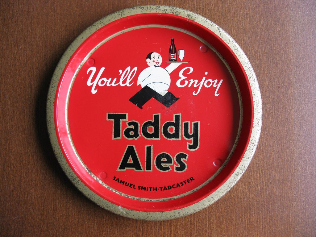 Vintage Samuel Smith S Brewery Of Tadcaster West Yorkshire England Taddy Ales Tray 1960 Beer Ales Tadcaster Beer Art Vintage Beer