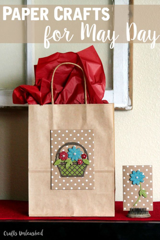 Bring back a little of the May Day Baskets tradition in the form of a gift bag. I am planning on using these gift bags for Mother's Day gifts.