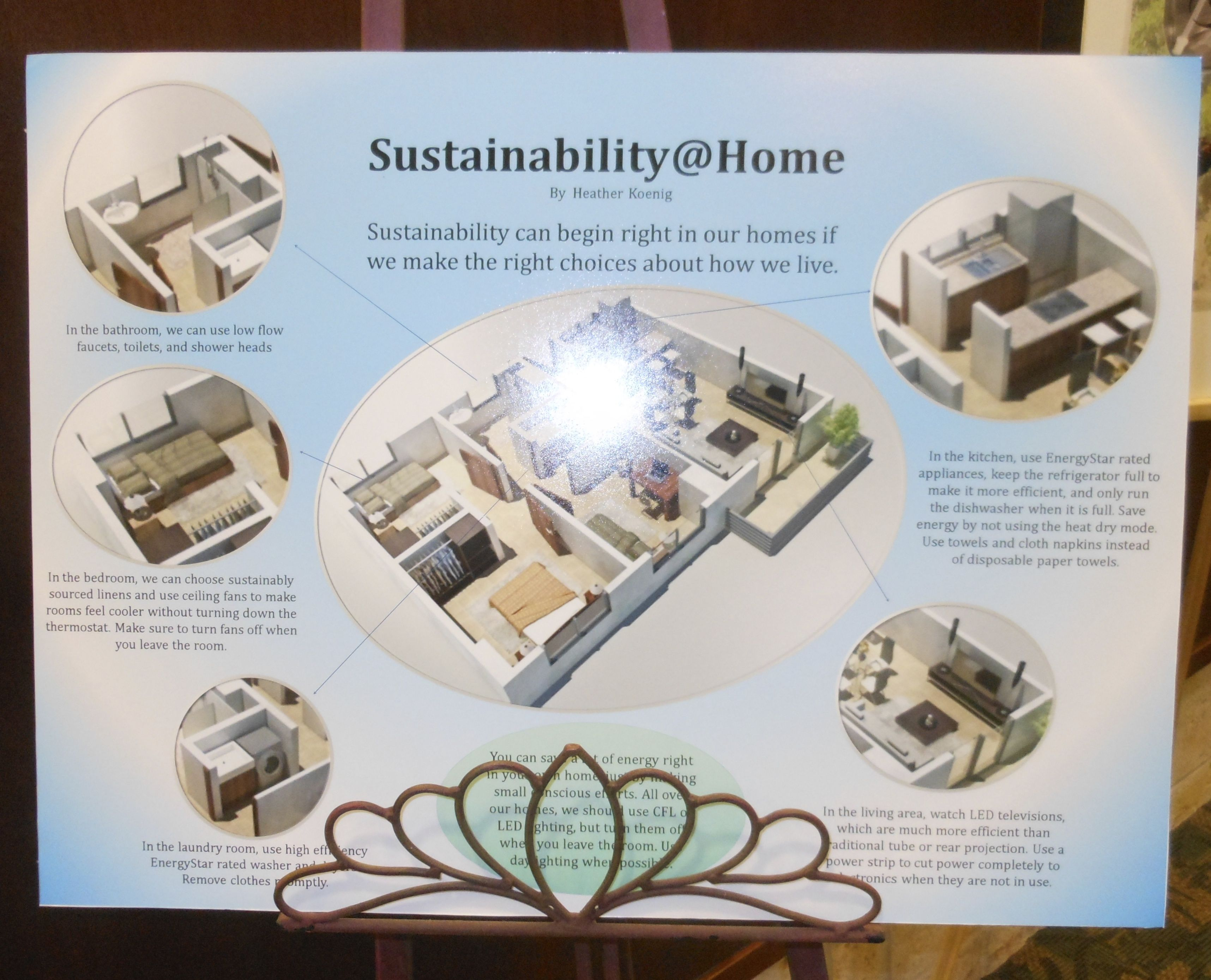 """State College of Florida Poster Presentation """"Sustainability @ Home"""" by Heather Koenig; Energy Technology major"""