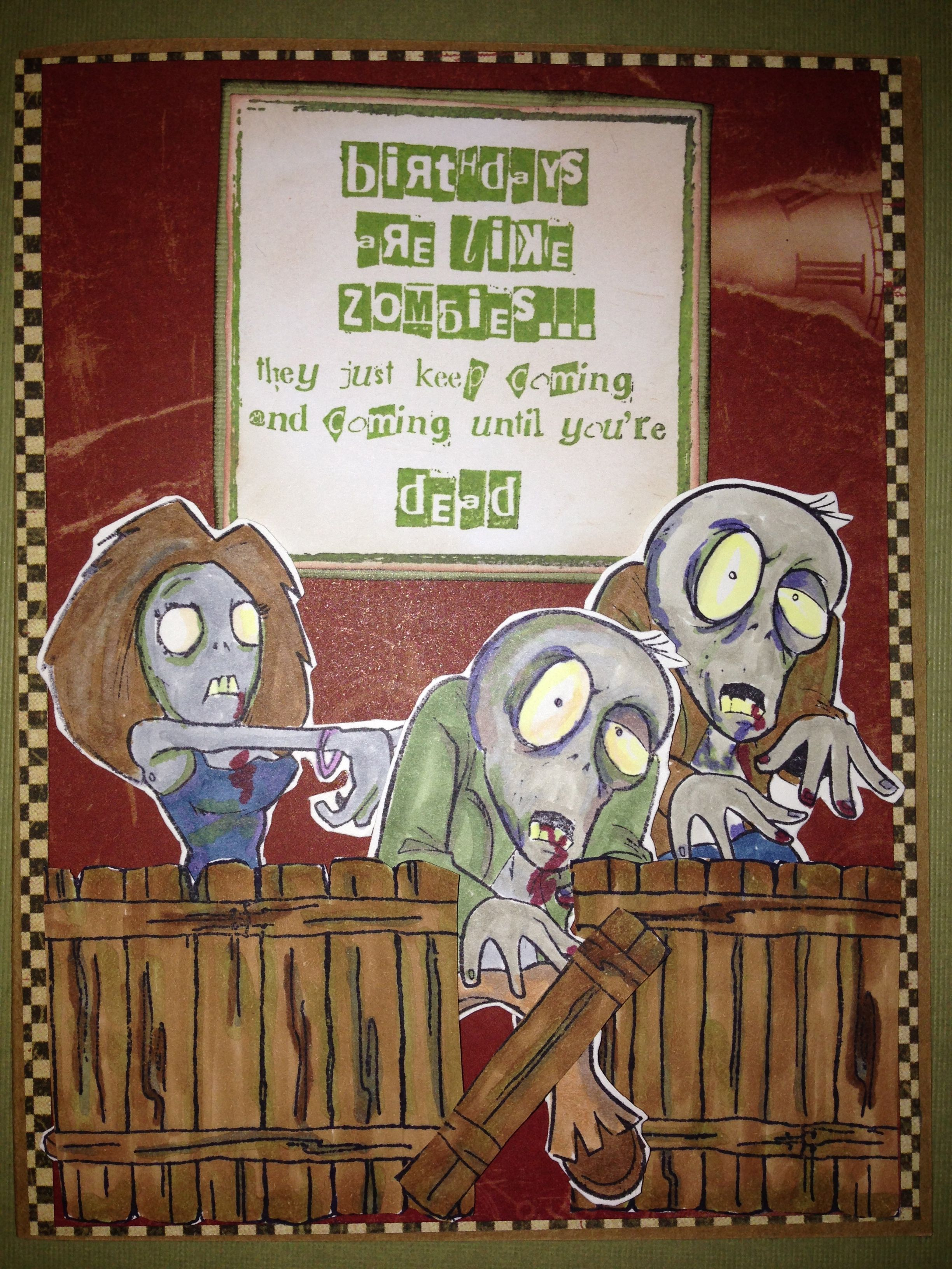 birthday card for my son-in-law  Zombie cards, Zombie birthday