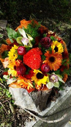 Bouquet  autunnale realizzato da Letizia  Tilli presso la bottega  Florarte  informazioni letizia.tilli@live.it.