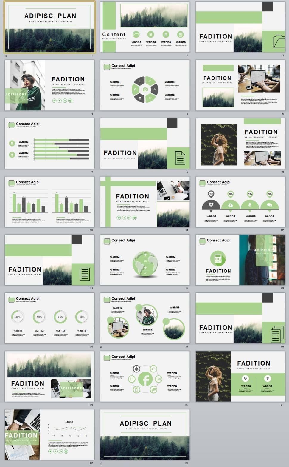 Green business plan template ออกแบบเลย์