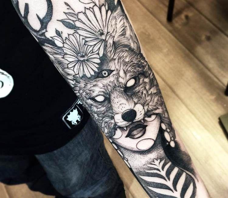 Fox Woman tattoo by Fredao Oliveira