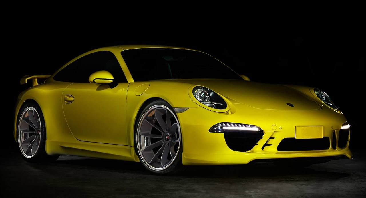 Forged 3 Piece Wheels By B Star Yellow Car By Porsche