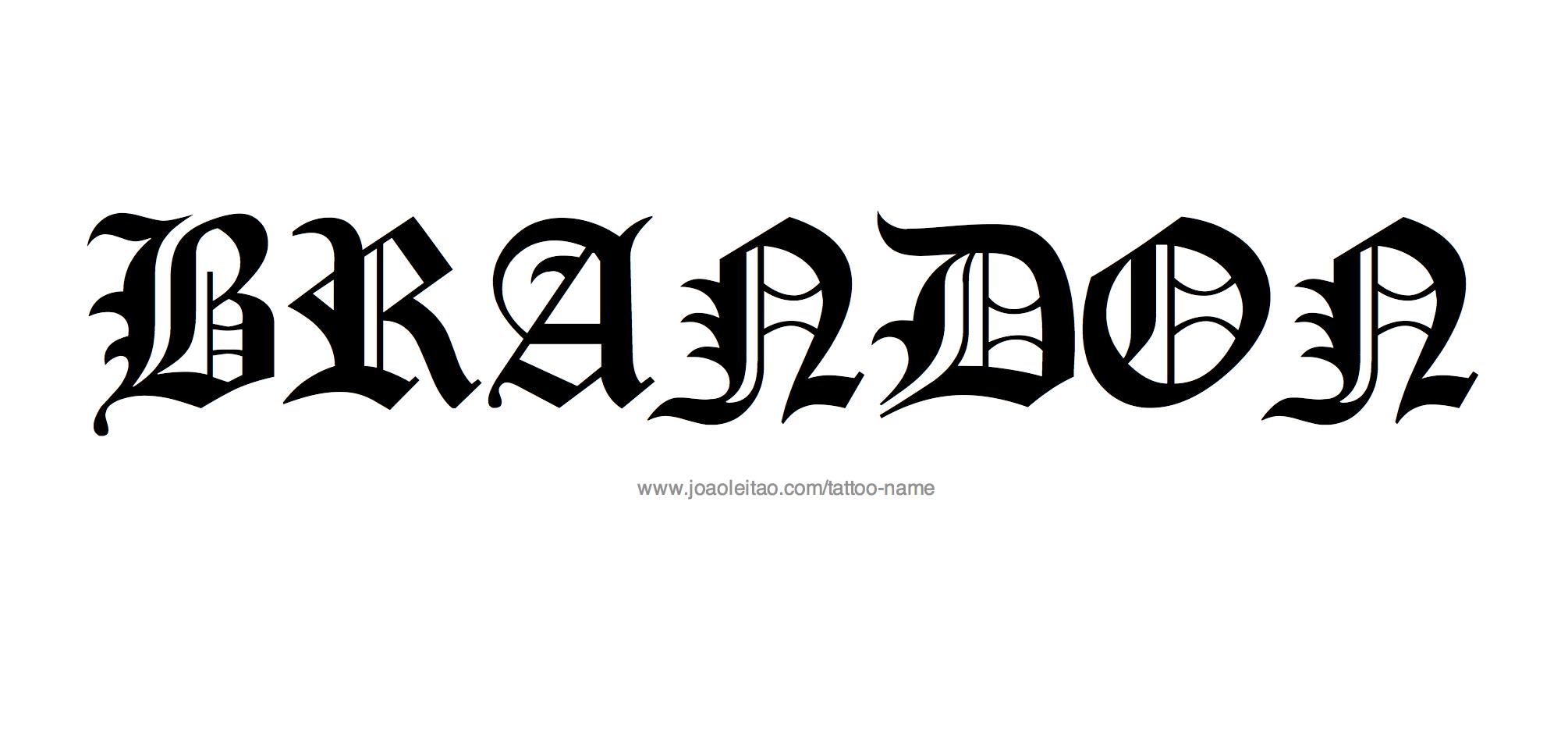 Brandon Name Tattoo Designs Name Tattoos Name Tattoo Designs Name Tattoo