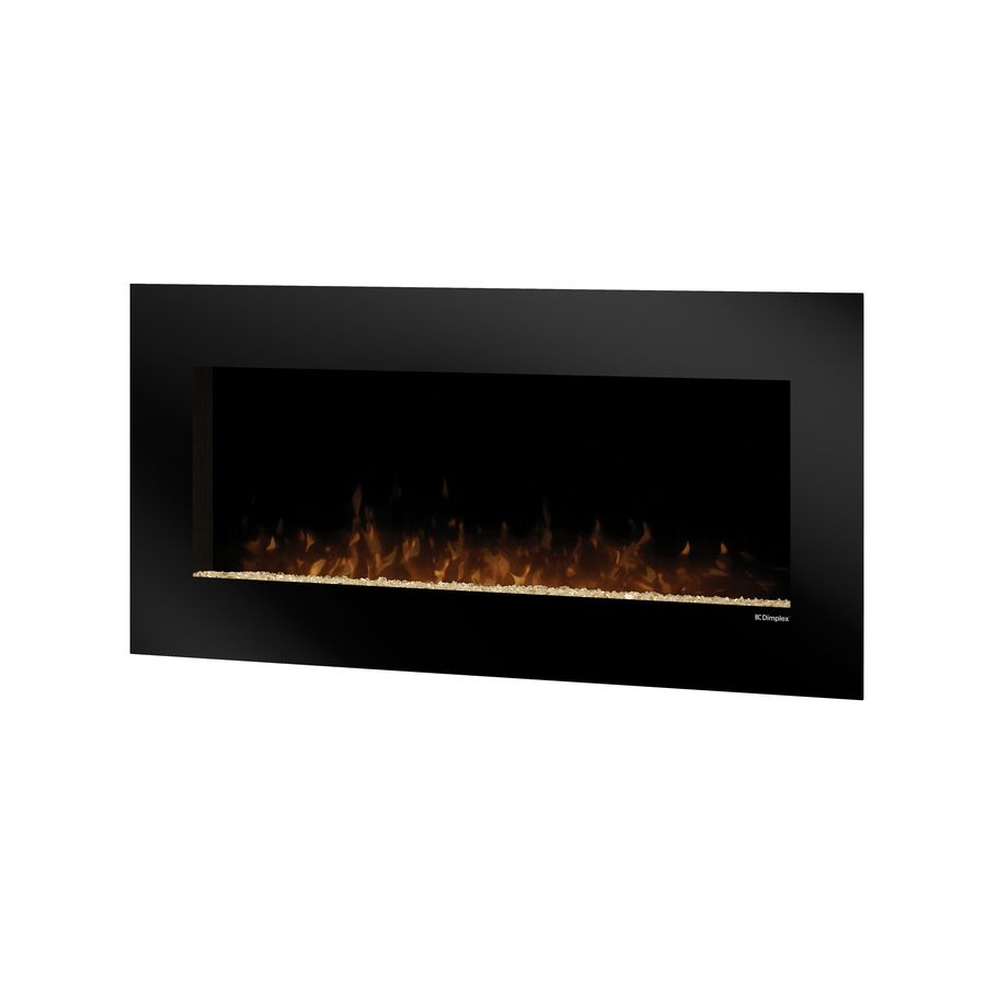 Shop Dimplex 43 In Black Wall Mount Electric Fireplace At Lowes Com Wall Mount Electric Fireplace Wall Mounted Fireplace Electric Fireplace