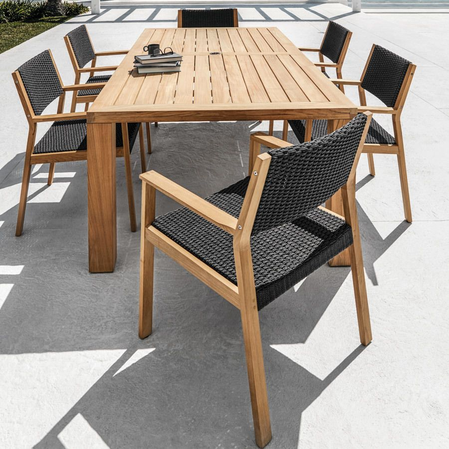 Gloster Square 6 Seat Rectangular Dining Set Outdoor Dining