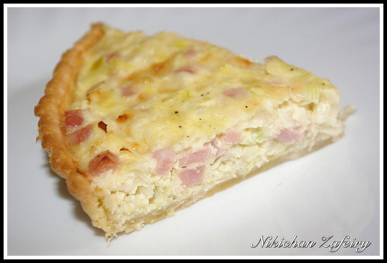Tarta Salada De Puerro Con Jamón Y Queso Hoy Vamos A Por Una Receta Muy Rica Nos Vale Tanto Para Comer Merenda Quiche De Puerros Tarta De Pollo Jamón Y Queso
