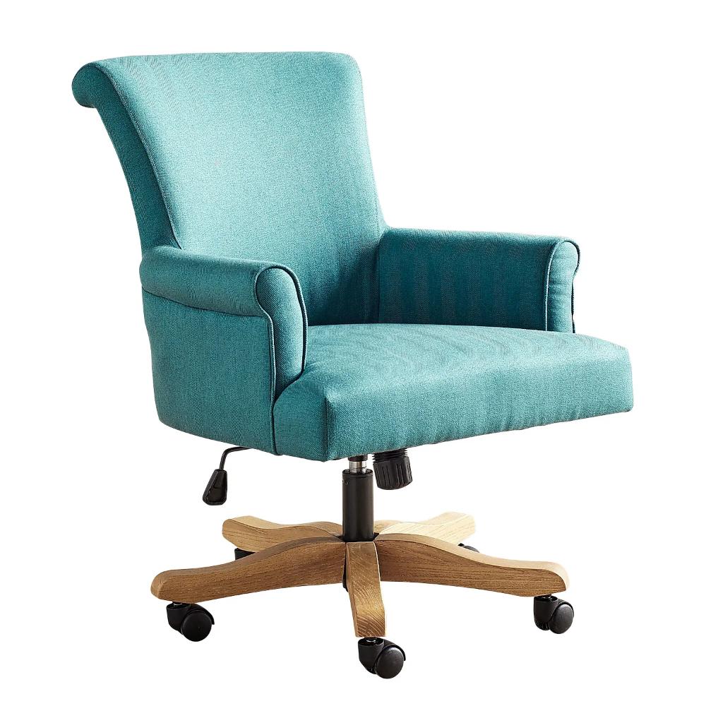 Brennon Sky Turquoise Swivel Desk Chair Pink desk chair