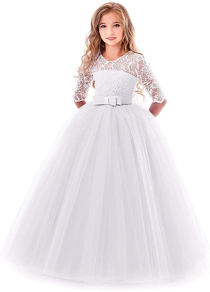 Flower Girl Dress Birthday Wedding Communion Formal Pageant Recital Toddler D1