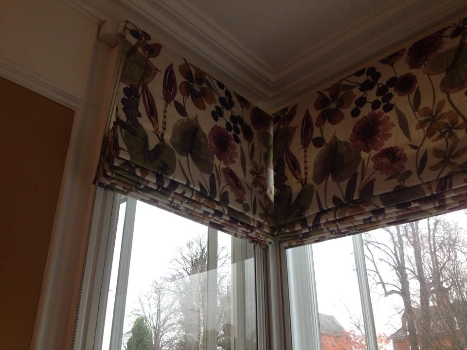 X3 Roman Blinds Made To Measure For A Square Bay Window