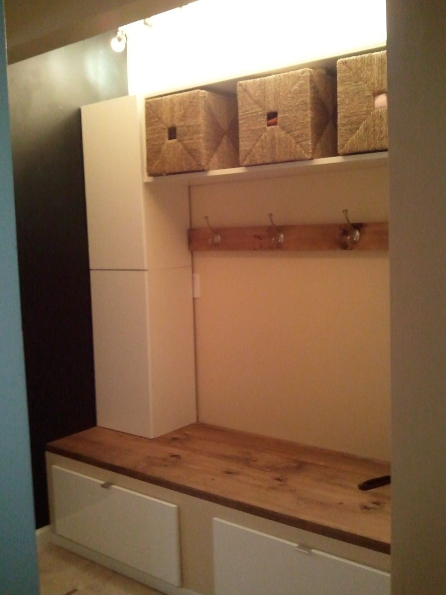 Hallway drawer storage  Believe you me I didnut do this on my own  Garage Conversion