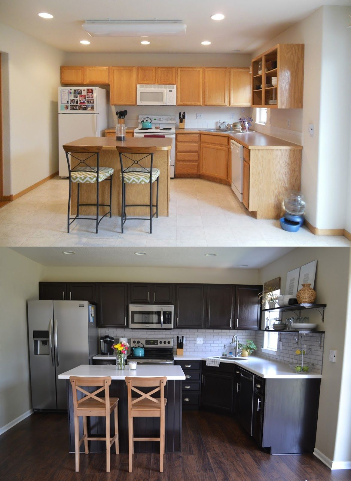 Kitchen Reveal: Before & After | DIYs Crafts & Recipes | Pinterest ...