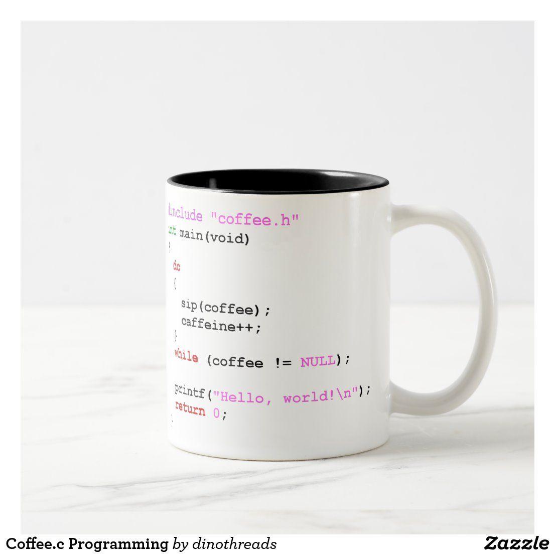 Coffeec programming twotone coffee mug in