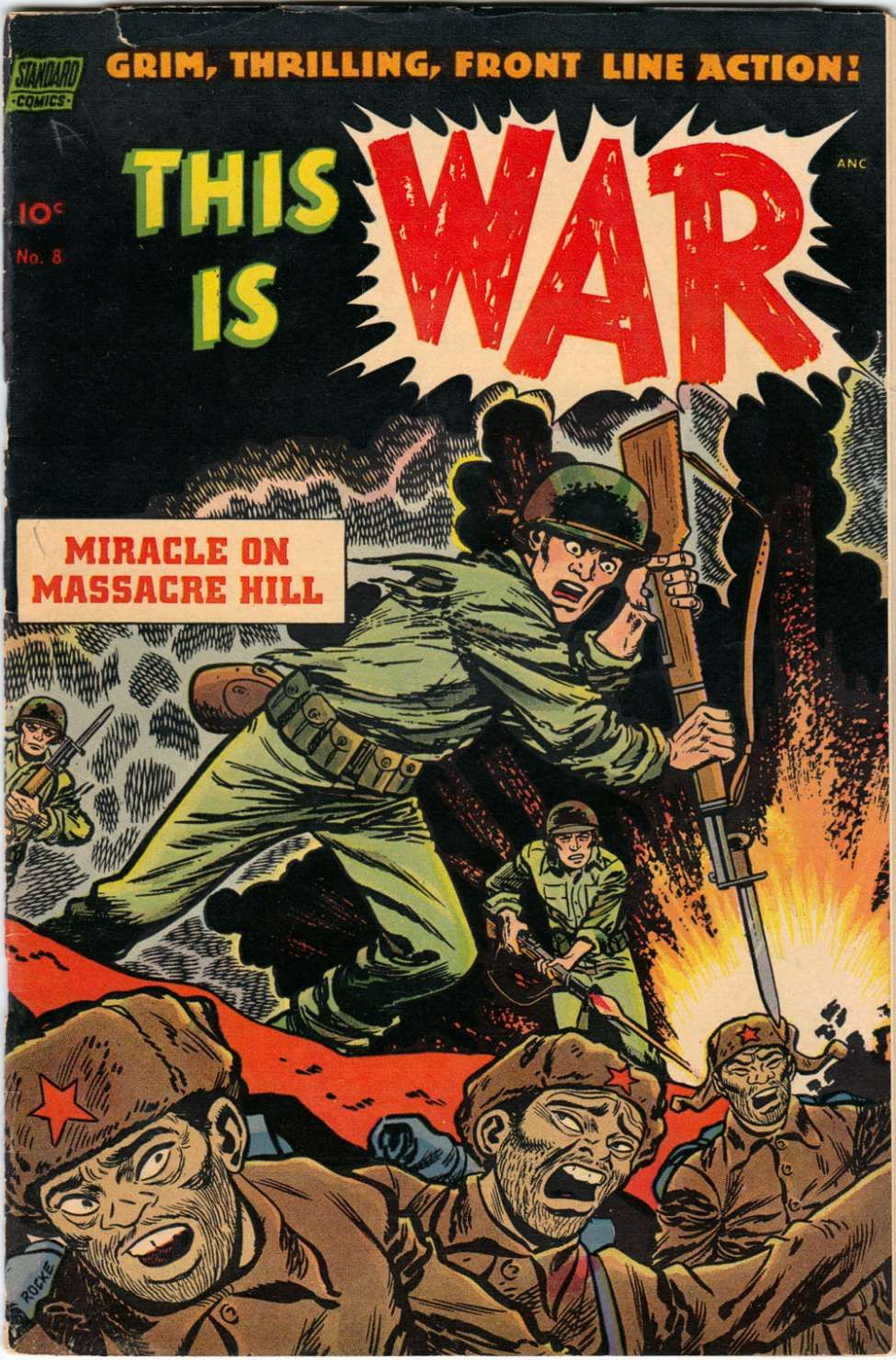 Comic Book Cover For This Is War #8