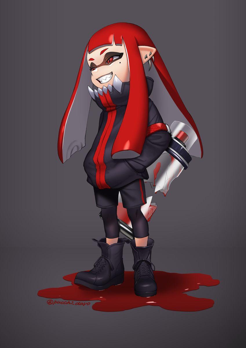 Splatoon 2 boy hairstyles horrorthemed squid girl by ぷち on pixiv  splatoon  splat