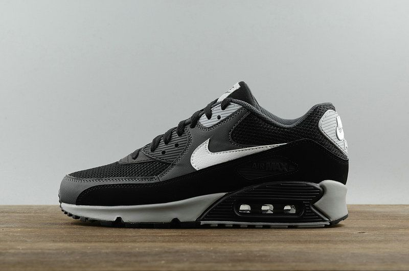 best website e4536 3db4e Youth Big Boys NIKE AIR MAX 90 Essential Casual Running Shoes Newest Mesh  Breathable 537384 063 Black White Anthracite Wolf Gr