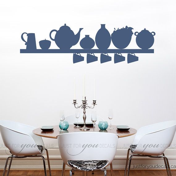Kitchen wall decal dining room wall decals by justforyoudecals kitchen wall decal dining room wall decals by justforyoudecals sxxofo