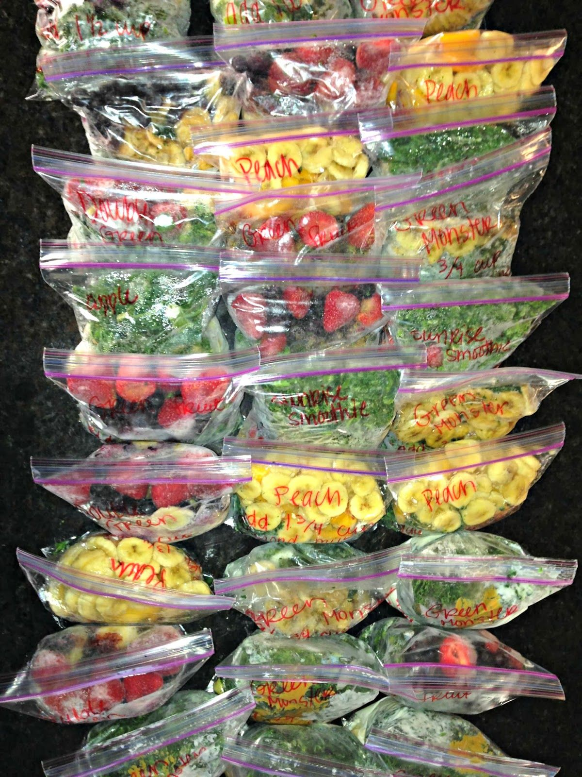 Frozen Smoothie Packs All Things Katie Marie Frozen Smoothie Packs Frozen Smoothie Healthy Smoothies
