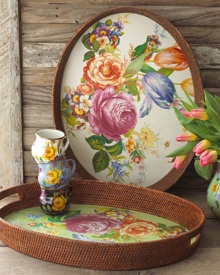 Enamel Spoon Rest MacKenzie-Childs Flower Market 9 Utensils