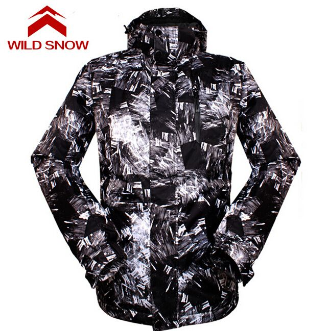 af6dbb8fd904 Wild Snow Outdoor Sport Windproof Snowboard Clothing Men s Skiing Snow  Jacket Waterproof Winter Warm Ski Hiking