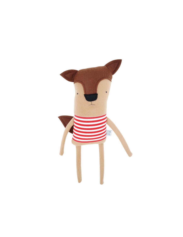Plush Fox Friend- Finkelstein's Center Handmade Creature by finkelsteins on Etsy https://www.etsy.com/listing/264544839/plush-fox-friend-finkelsteins-center
