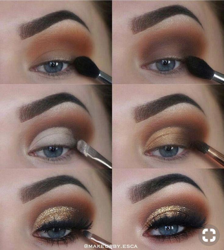 Photo of Brown eye make-up. Brown Eye Makeup Tutorial Step by step the perfect eye make-u…