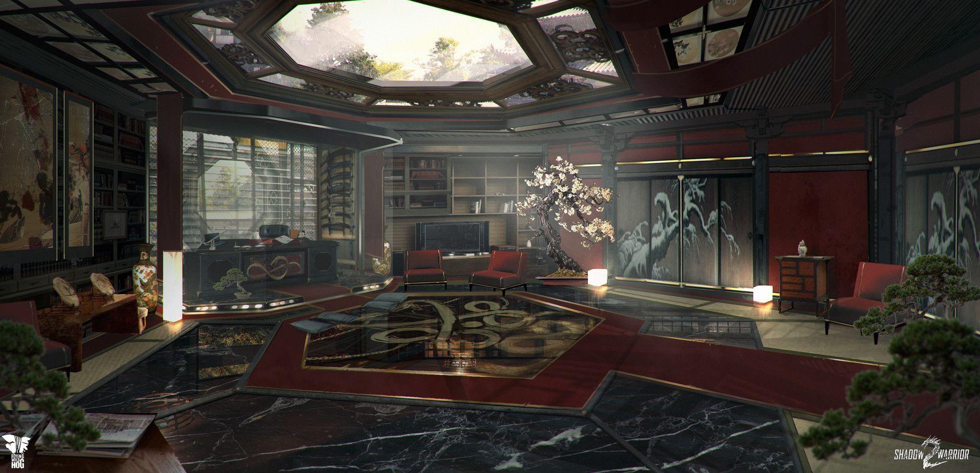 Artstation shadow warrior 2 yakuzas mansion magdalena