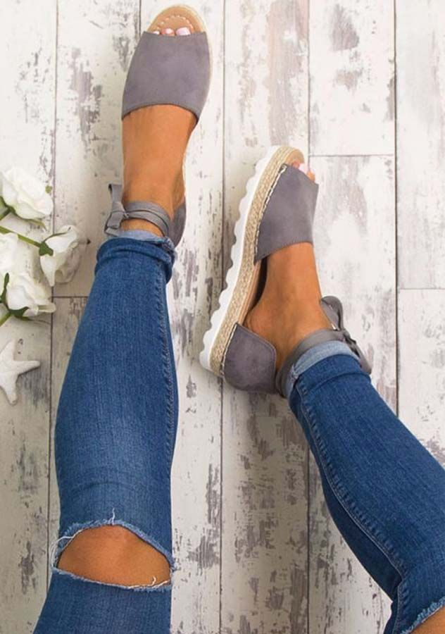 8e708bb9ca9 Summer Flat Sandals Bohemia Bandage Leisure Ladies Outdoor Shoes Lace  Up