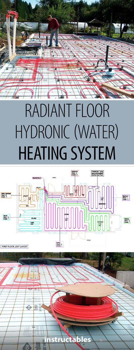 Radiant Floor Hydronic Water Heating System With Images Floor Heating Systems Radiant Floor Hydronic Radiant