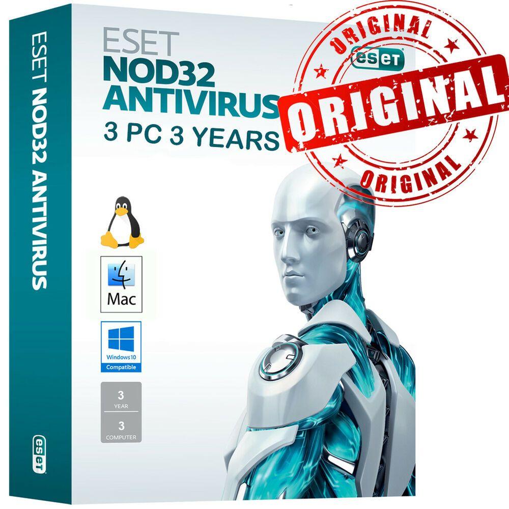ESET NOD32 Antivirus 2020 3 PC , 3 Years, GLOBAL, ESD