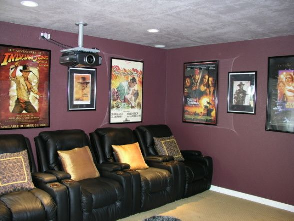 Framed Movie Posters Home House Interior At Home Movie Theater
