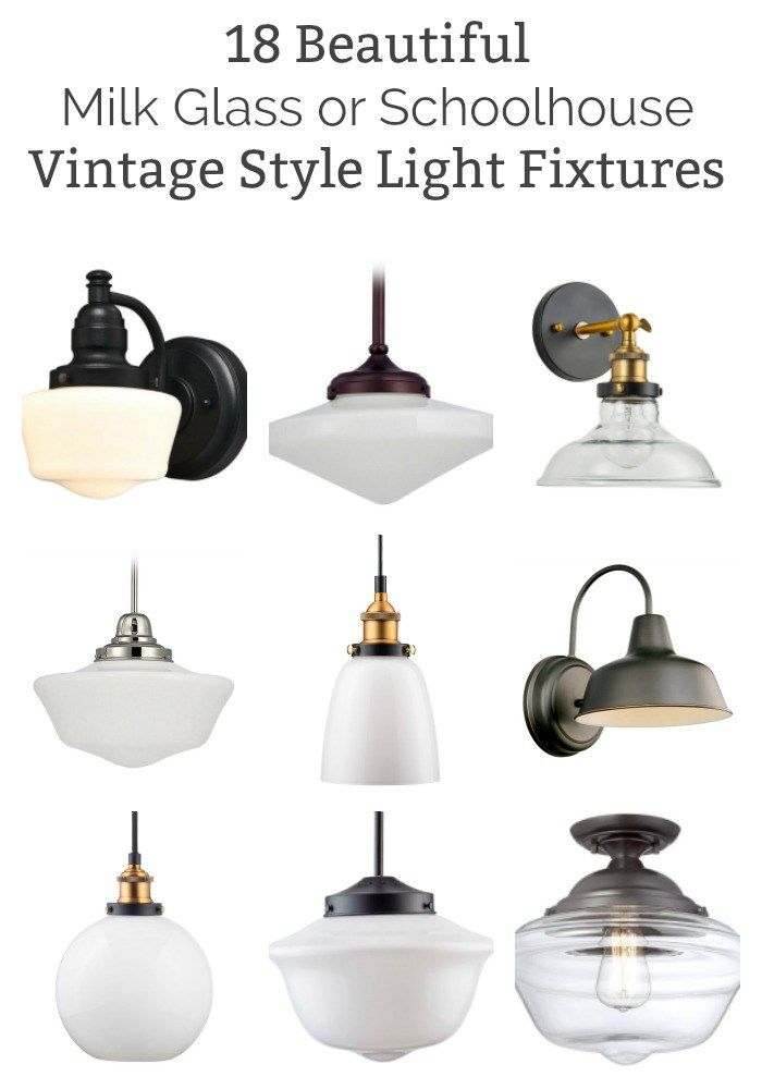 18 Of The Best Vintage Style Milk Gl And Schoolhouse Light Fixtures On While