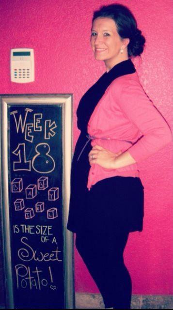 Chalkboard Pregnancy 18 Weeks: Our little sweet potato