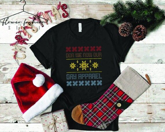 Christmas Pride Shirt,Gay Christmas Gifts,Happy Holigays,Don We Now Our Gay Apparel,LGBT Xmas Shirt,Gay Holiday Tee,Merry Christmas Gay Gift---How To Order ---1-) Please, check and review all photos2-) Choose your t-shirt size and color*Different styles of shirts may have different shades of same color choice due to different manufacturer brands.*For this reason, we recommend you to match shirts from the same styles if you want precisely matching colors (ex. Unisex, V-neck, Tank top, etc.).3-) C