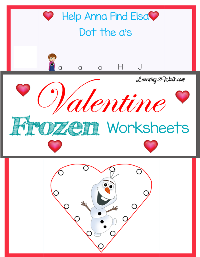 FREE Frozen Valentines Worksheets | Printable | Pinterest ...
