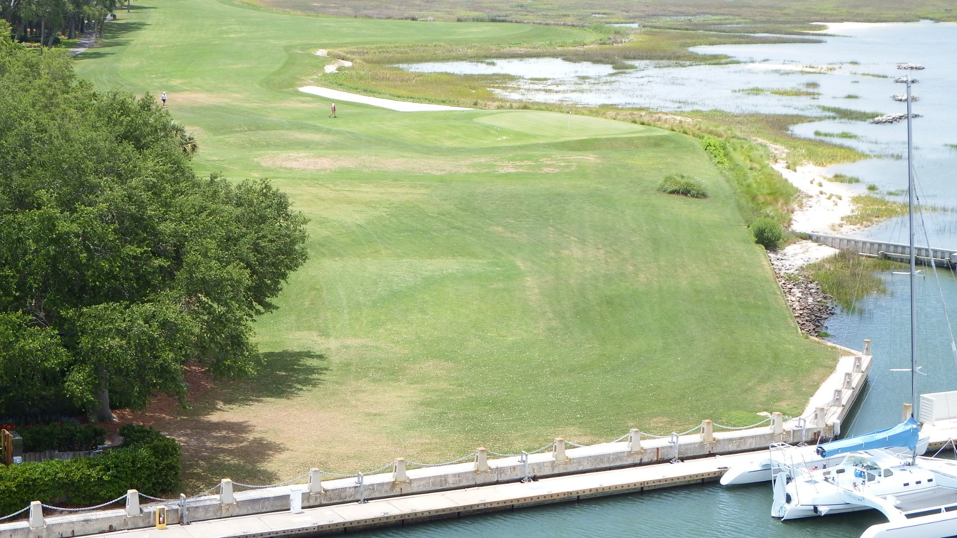 Hilton Head, SC..18th hole view from the lighthouse