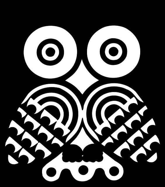 silmä, design, lintu, pöllö, tyyli, siivet