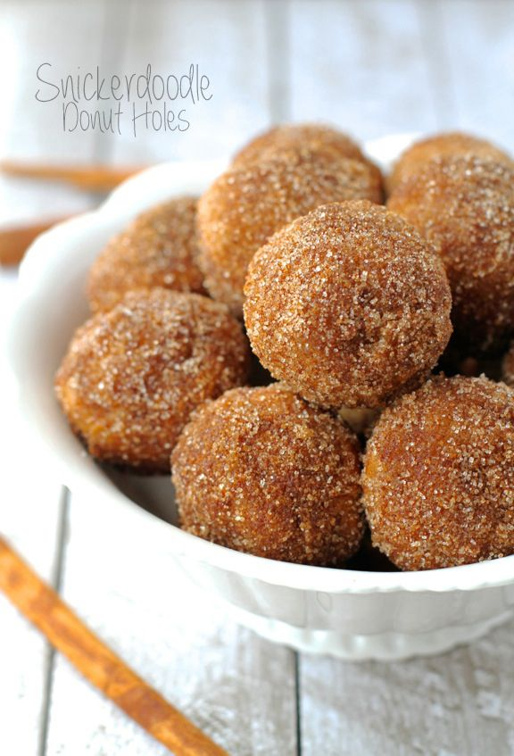 Baked Snickerdoodle Donut Holes ~ the goodness of cinnamon and sugar baked into a soft and pillowy donut hole   runningwithspoons.com