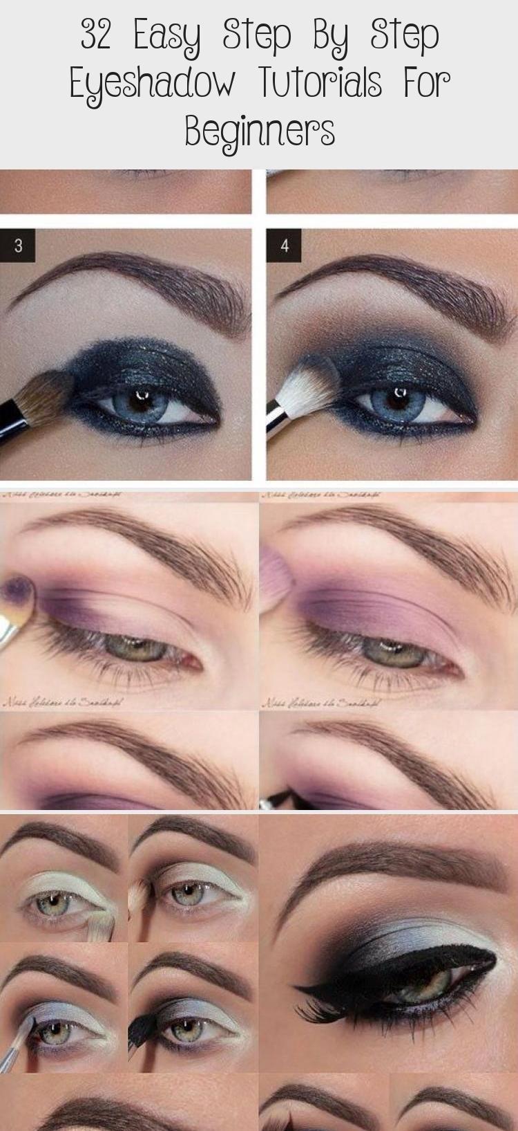 32 Easy Step By Step Lidschatten-Tutorials für Anfänger - Make-up - Easy + Step + by ...#anfänger #easy #für #lidschattentutorials #makeup #step