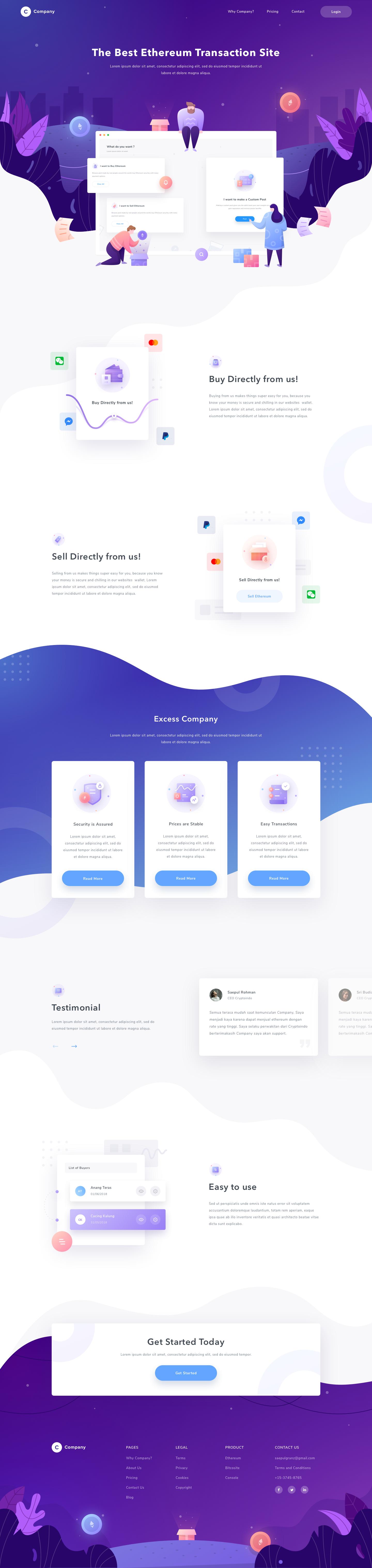 Company Landing Page Webpage Design Web Design Web Design Trends
