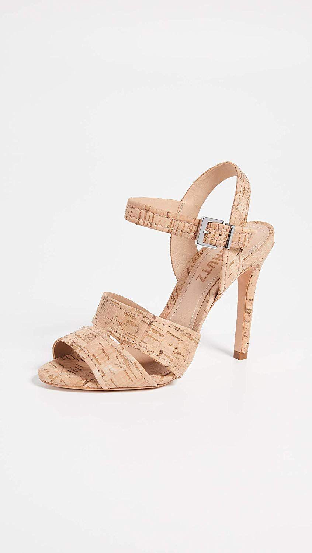 : SCHUTZ Women's Gwen Ankle Strap Sandals, Natural